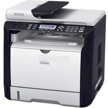 МФУ лазерное монохромное Ricoh Aficio SP 311SFN A4 28стр/мин 128Мб факс USB LAN, Белый/Черный 407238