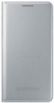 Чехол Samsung Flip Cover EF-FG850BSEGRU для Samsung Galaxy Alpha SM-G850, Полиуретан, Серебристый