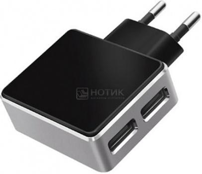 Зарядное устройство Deppa 11309 ULTRA, 2хUSB, 3.4A(2.4A/1A), Черный