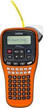 Принтер для наклеек Brother PT-E100VP переносной,от 3,5 до 12мм,до 20мм/сек,180т/д,однострочный,кейс+БП PTE100VPR1