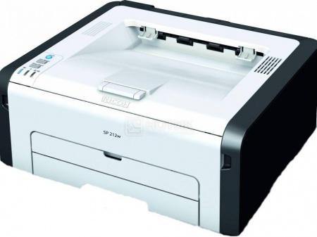 Принтер лазерный монохромный Ricoh SP 212w, A4, 22стр/мин, 128Мб, USB, WiFi, Белый/Черный 407691