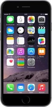 Смартфон Apple iPhone 6 64Gb Space Gray (iOS/A8 1400MHz/4.7 (1334x750)/1024Mb/64Gb/4G LTE 3G (EDGE, HSDPA, HSUPA)) [MG4F2RU/A]Apple<br>4.7 Apple 1400 МГц 1024 Мб Flash drive 64 Гб iOS бат. - до 14.0 ч Темно-серый<br>
