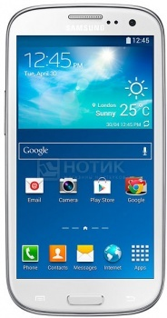 "Смартфон Samsung GALAXY S3 Neo Ceramic White GT-I9301I (Android 4.0/MSM8226 1400MHz/4.8"" (720x1280)/1536Mb/16Gb/ 3G (EDGE, HSDPA, HSUPA)) [GT-I9301RWISER] от Нотик"