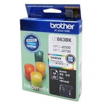 Картридж Brother LC-663BK для MFCJ2320 2720 600стр, Черный LC663BK