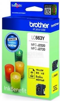 Картридж Brother LC-663Y для MFCJ2320 2720 600стр, Желтый LC663Y