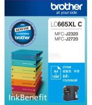 Картридж Brother LC-665XLC для MFCJ2320 2720 1200стр, Голубой LC665XLC