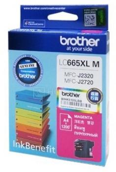 Картридж Brother LC-665XLM для MFCJ2320 2720 1200стр, Пурпурный 665XLM