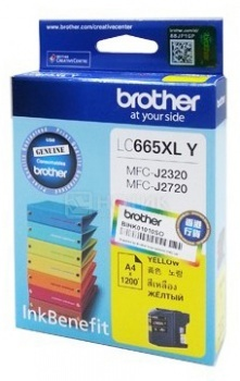 Картридж Brother LC-665XLY для MFCJ2320 2720 1200стр, Желтый LC665XLY
