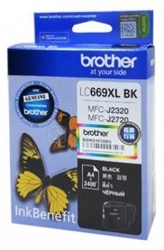 Картридж Brother LC-669XLBK для MFCJ2320 2720 2400стр, Черный LC669XLBK