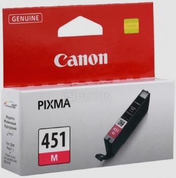 Картридж Canon CLI-451M для MG6340 MG5440 IP7240 319с Пурпурный 6525B001