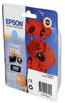 Картридж Epson 17XL для Epson XP-33 103 203 207 303 306 403 406 450с Голубой C13T17124A10