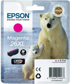 Картридж Epson 26XL для XP-600/700/800 700стр, Пурпурный C13T26334010