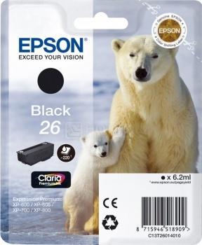 Картридж Epson 26XL для XP-600/700/800 500стр, Черный C13T26214010