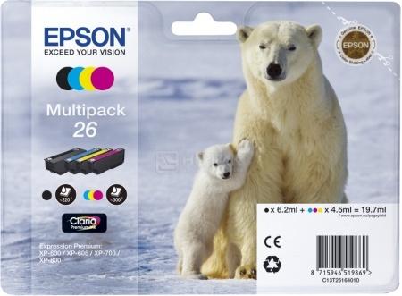 Набор картриджей Epson 26 для XP-600/700/800, Разноцветный C13T26164010
