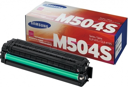 Картридж Samsung CLT-M504S для CLP-415 CLX-4195 SL-C1810 SL-C1860 1800стр, Пурпурный CLT-M504S/SEE от Нотик