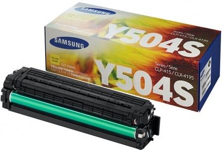 Картридж Samsung CLT-Y504S для CLP-415 CLX-4195 SL-C1810 SL-C1860 1800стр, Желтый CLT-Y504S/SEE