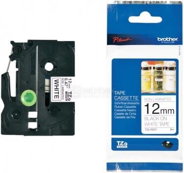 Лента для печати наклеек Brother TZe-N231 неламинированная,12 мм, Черный текст на белом фоне TZEN231