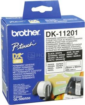Наклейки адресные Brother DK-11201 DK11201,29 x 90 мм, 400шт фото