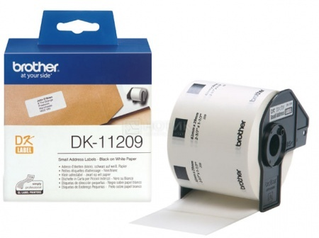 Наклейки адресные маленькие Brother DK11209, 62 x 29 мм, 800шт