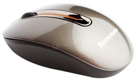 Мышь беспроводная Lenovo N3903 Coffee, Коричневый 888011629 от Нотик