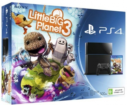 Игровая приставка Sony PlayStation 4 Little Big Planet 3 500Gb, Черный