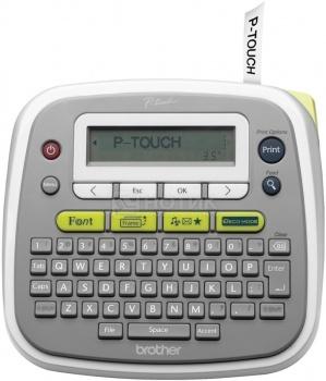 Принтер для наклеек Brother PT-D200 настольный, от 3,5 до 12мм, до 20мм/сек, 180т/д, БП, Белый PTD200R1