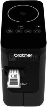 Принтер для наклеек Brother PT-P750W настольный, авторезак, от 3,5 до 24мм, до 30мм/сек, 180т/д, WiFi, БП, USB, Черный PTP750WR1