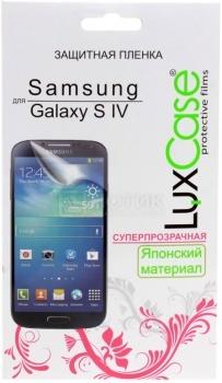 Защитная пленка LuxCase для Samsung Galaxy S IV, Суперпрозрачная аксессуар защитная пленка irbis tz701 luxcase суперпрозрачная 53041