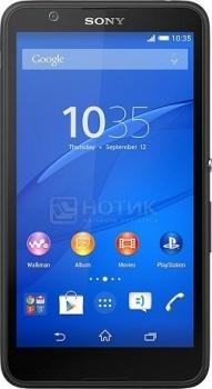 """Смартфон Sony Xperia E4 Dual Black (Android 4.4/MT6582 1300MHz/5.0"""" (960x540)/1024Mb/8Gb/ 3G (EDGE, HSDPA, HSPA+)) [1292-4563] от Нотик"""