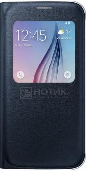 Чехол Samsung S View EF-CG920PBEGRU для Samsung Galaxy S6, Полиуретан/Поликарбонат, Черный