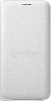 Чехол Samsung Flip Wallet EF-WG925PWEGRU для Galaxy S6 Edge, Полиуретан/Поликарбонат, Белый