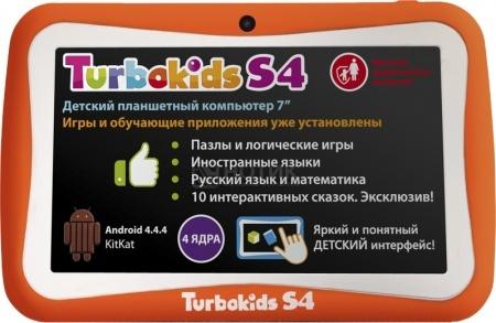 """Планшет Turbo TurboKids S4 Orange (Android 4.4/RK3126 1300MHz/7.0"""" (1024x600)/512Mb/8Gb/ ) [TurboKids S4 Orange]"""