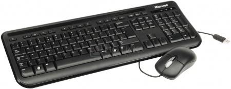 Комплект проводной клавиатура+мышь Microsoft Wired Desktop 400, Черный