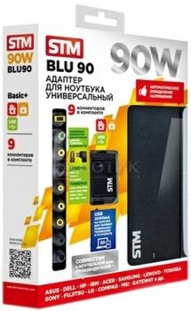 Адаптер питания STM BLU90, 90W, USB(2.1A), ЧерныйSTM<br>Адаптер питания STM BLU90, 90W, USB(2.1A), Черный<br>