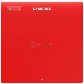 Привод DVD+/-RW Samsung SE-208GB/RSRD slim ext, Красный