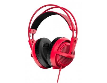 Гарнитура проводная SteelSeries Siberia v2 full-size headset Red, Красный 51129