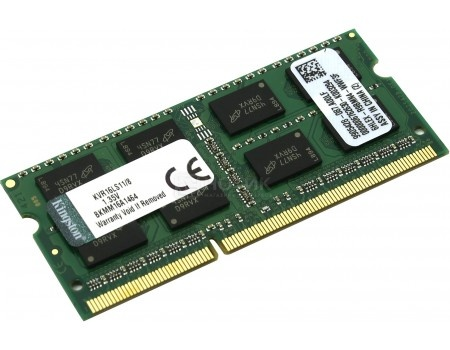 Модуль памяти Kingston SO-DIMM DDR3L 8192Mb, PC3-12800 1600MHz, CL11, 1.35V KVR16LS11/8 от Нотик