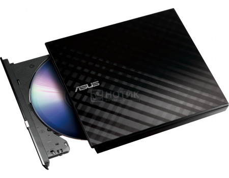 Привод оптический внешний DVD-RW ASUS Blaсk Slim Ret. Karim Rashid Collection SDRW-08D2S-U LITE, USB, Черный SDRW-08D2S-U LITE, BLK/G/AS