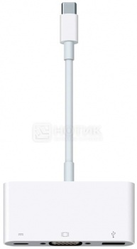 Адаптер Apple MJ1L2ZM/A Multiport Adapter USB-C to VGA, Белый адаптер apple mj1l2zm a multiport adapter usb c to vga белый