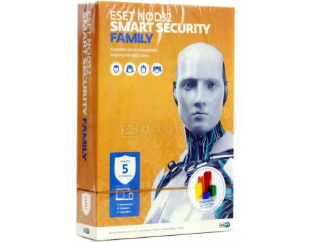 Программный продукт ESET NOD32 Smart Security Family. Регистрационный ключ на 5 ПК на 1 год (BOX) NOD32-ESM-NS-BOX-1-5
