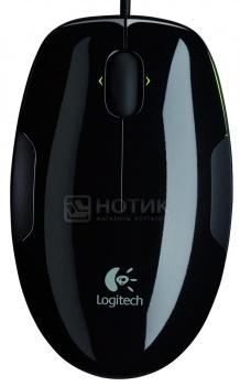 Мышь проводная Logitech M150 910-003752, 1100dpi, Черный/Салатовый