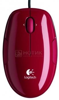 Мышь проводная Logitech M150 910-003751, 1100dpi, Черный/Оранжевый от Нотик