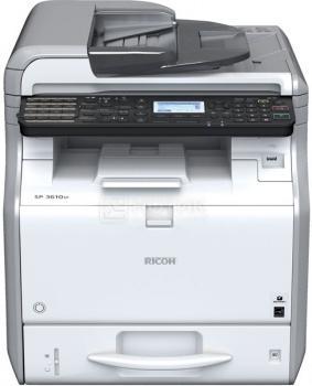 МФУ лазерное монохромное Ricoh Aficio SP 3600SF, A4, 30стр/мин, 512Мб, факс, USB, LAN, ADF Белый/Черный 407308/906365