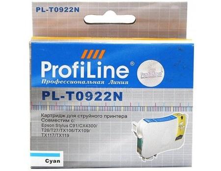 Картридж ProfiLine PL-0922N для Epson Stylus C91 CX4300 TX106 TX109 TX117 TX119 T26 T27, Голубой