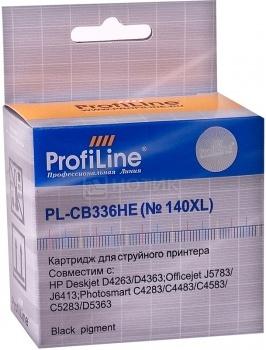 Картридж ProfiLine PL-CB336HE №140XL для HP Deskjet D4263/D4363, 1000 стр, Черный