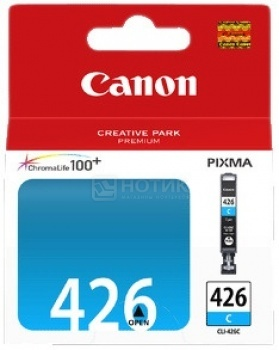 Картридж Canon CLI-426C для Canon Pixma IP4840 MG5140 MG5240 MG6140 MG8140, Голубой pgi 425 cli 426 ink cartridge for canon pgi425 cli425 pixma ip4840 ip4940 mg5240 mg5340 mg5140 mx714 mx884 mx894 ix6540