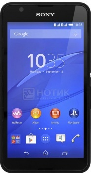"Смартфон Sony Xperia E4 Black (Android 4.4/MT6582 1300MHz/5.0"" (960x540)/1024Mb/8Gb/ 3G (EDGE, HSDPA, HSPA+)) [1292-4554] от Нотик"