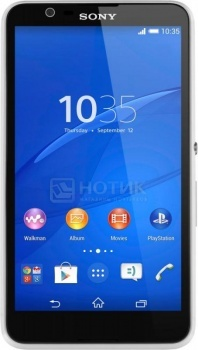 "Смартфон Sony Xperia E4 White (Android 4.4/MT6582 1300MHz/5.0"" (960x540)/1024Mb/8Gb/ 3G (EDGE, HSDPA, HSPA+)) [1292-4557] от Нотик"