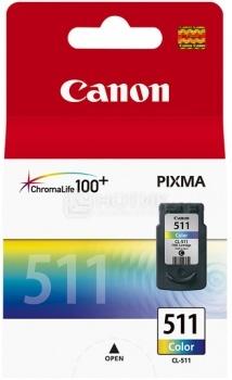 Картридж Canon CL-511 для Pixma MP 240/260/480 244 стр, Цветной 2972B007