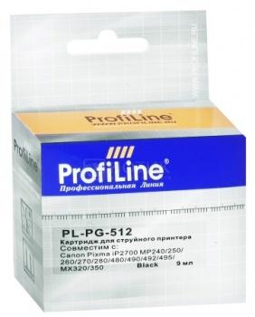 Картридж ProfiLine PL-PG-512 для Canon Pixma iP2700 MP240/ 250/ 260/ 270 MX320/ 330/ 340/ 350, Черный